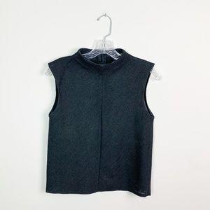 Zara | structured mock neck sleeveless crop top XS